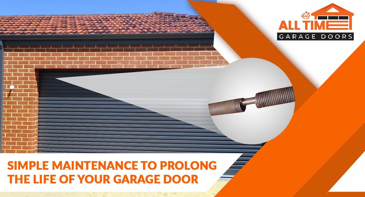 garage door simple maintenance to prolong your garage door life